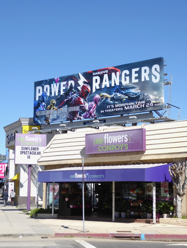 Power Rangers film billboard