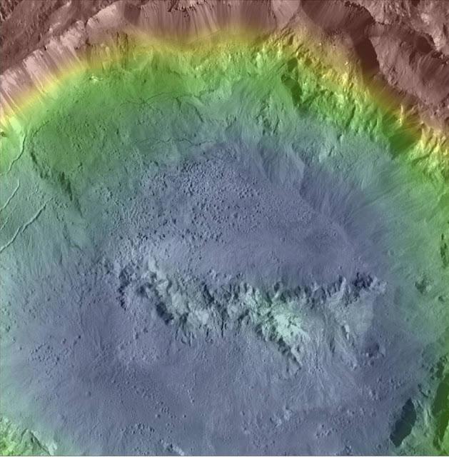 Mapa topográfico del cráter Haulani