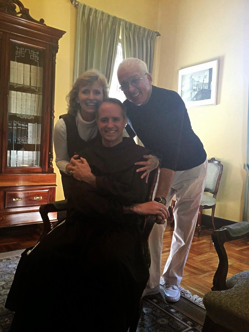 Fr. Michael Della Penna with Nancy and Patrick Latta at the Apostolic Nunciature, Guatemala City