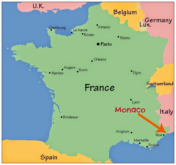 Monaco On Map Of France.Maybe Too Blonde A Life In Europe Moon Over Monaco