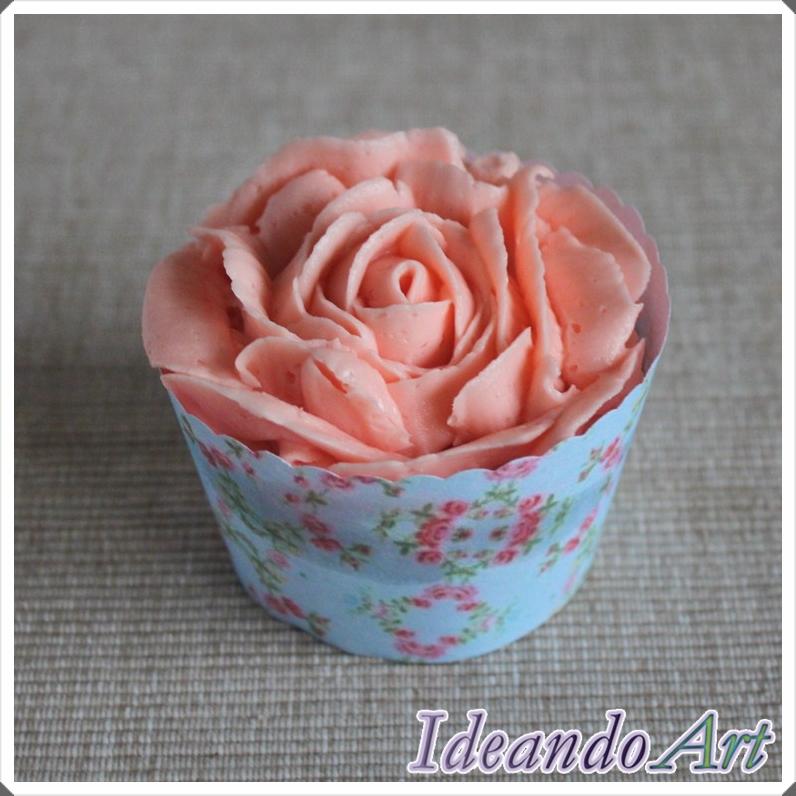 Cupcake rosa buttercream