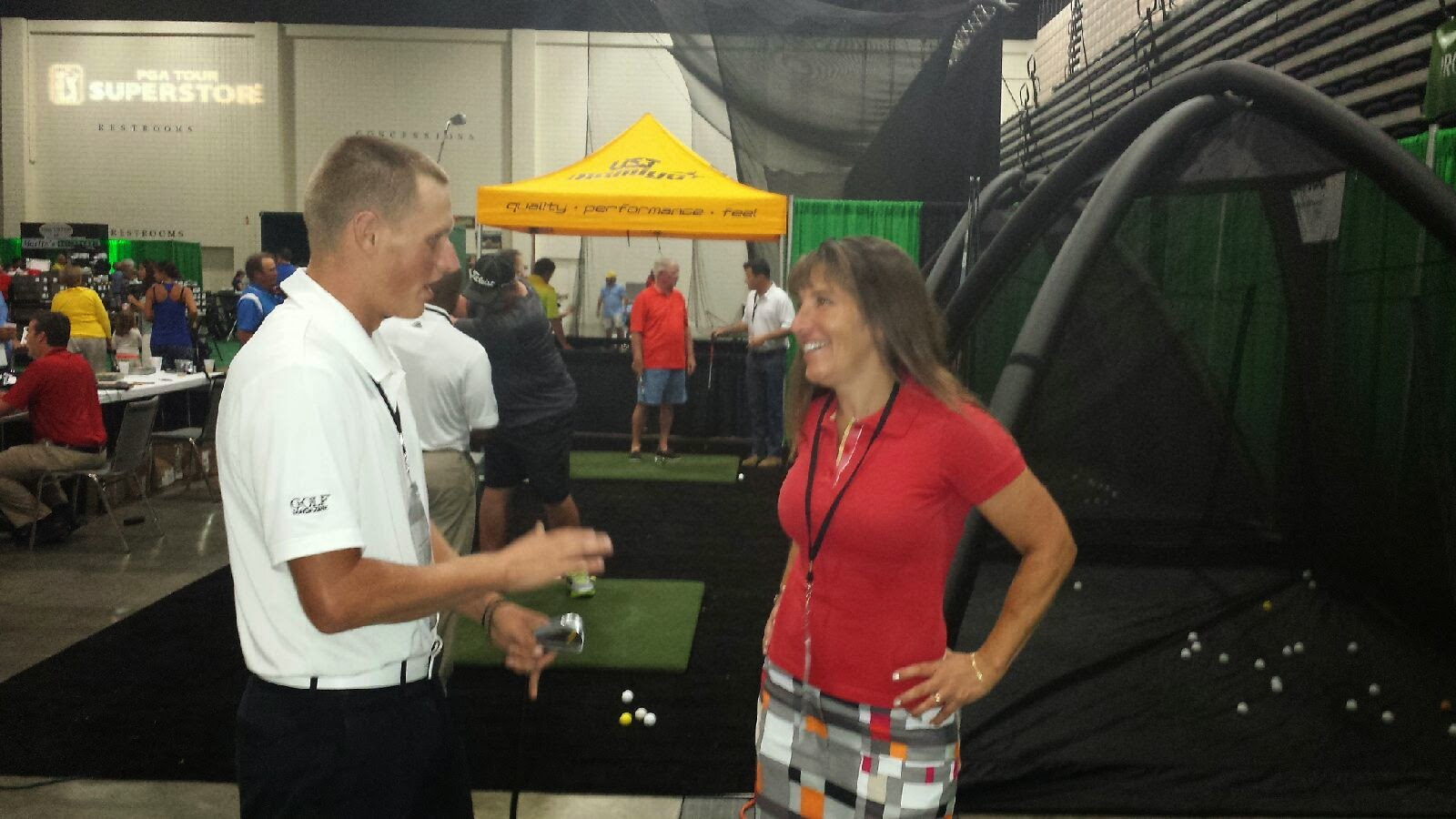 Stacy Solomon - Golf for Beginners at GolfTec booth