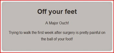 mortons neuroma surgery off your feet instructions