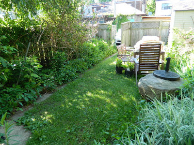 Riverdale Toronto backyard garden cleanup before by Paul Jung Gardening Services