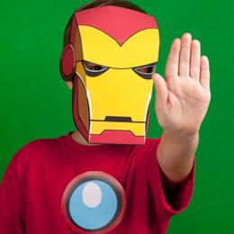 Máscara para imprimir de Iron Man.
