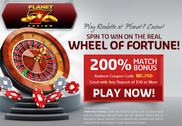 200% No Rules Roulette Games Bonus Planet7 Casino