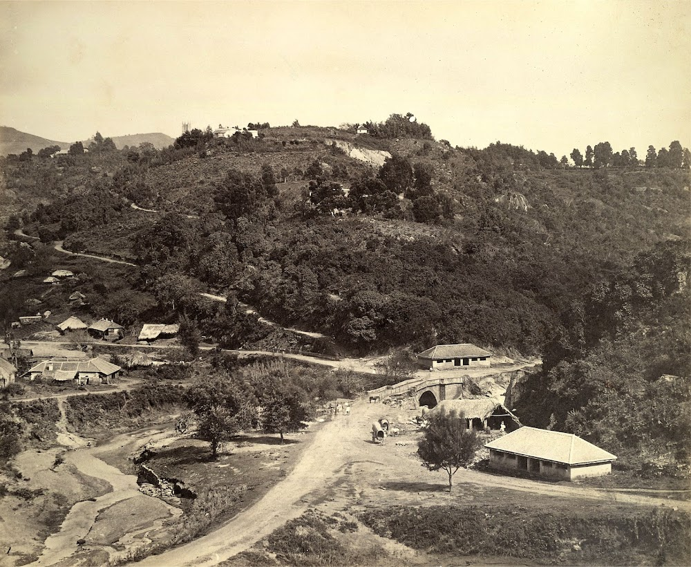 General view of Coonoor, a Tea Plantation Town in Nilgiris, Tamil Nadu - c. 1860's