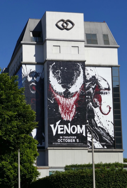 Giant Venom movie billboard