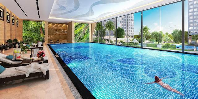 Bể bơi bốn mùa ở nằm ở  tòa A3 Vinhomes Gardenia