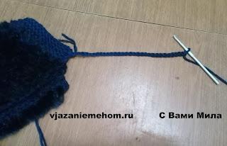 Вязание мехом. Меховой капор из норки. Капор своими руками.