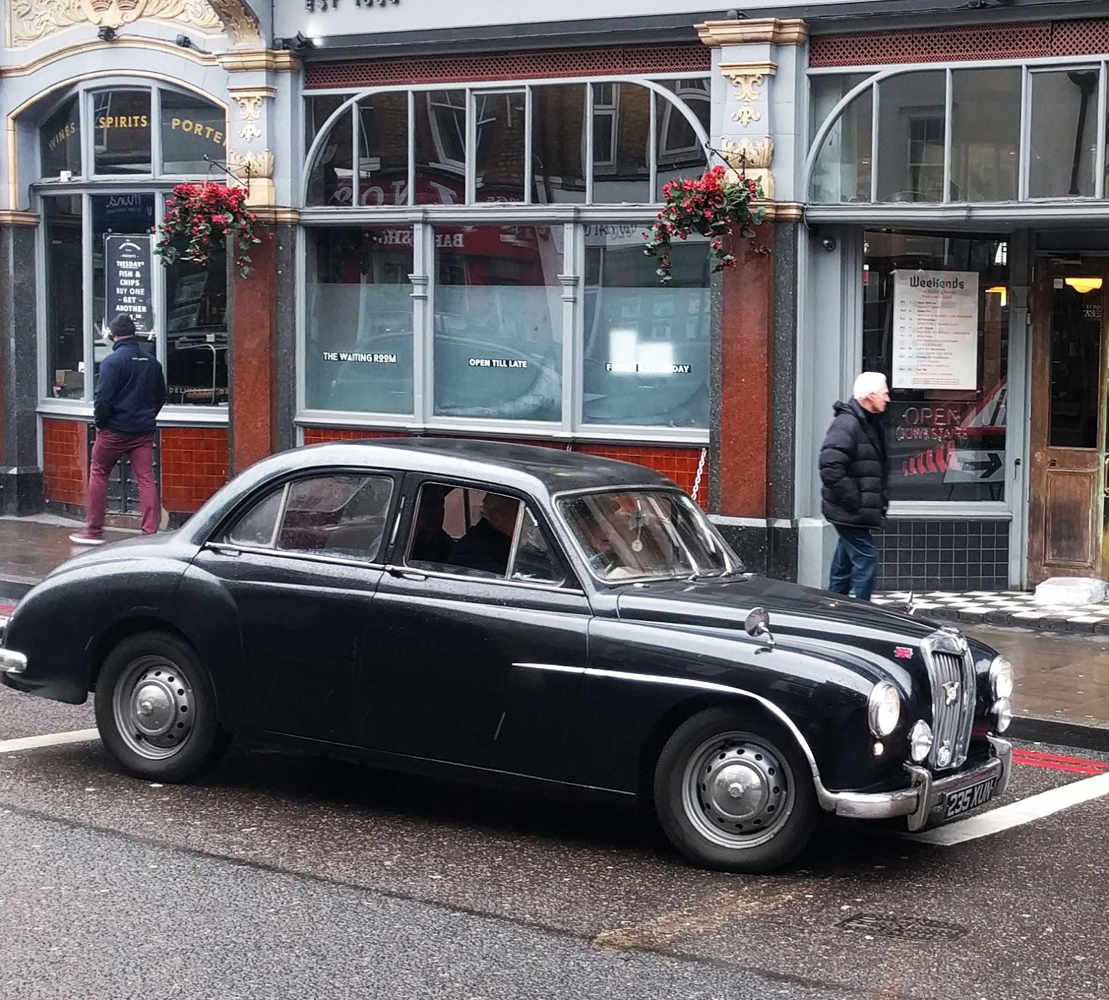 Vintage Car spotting in streets of London