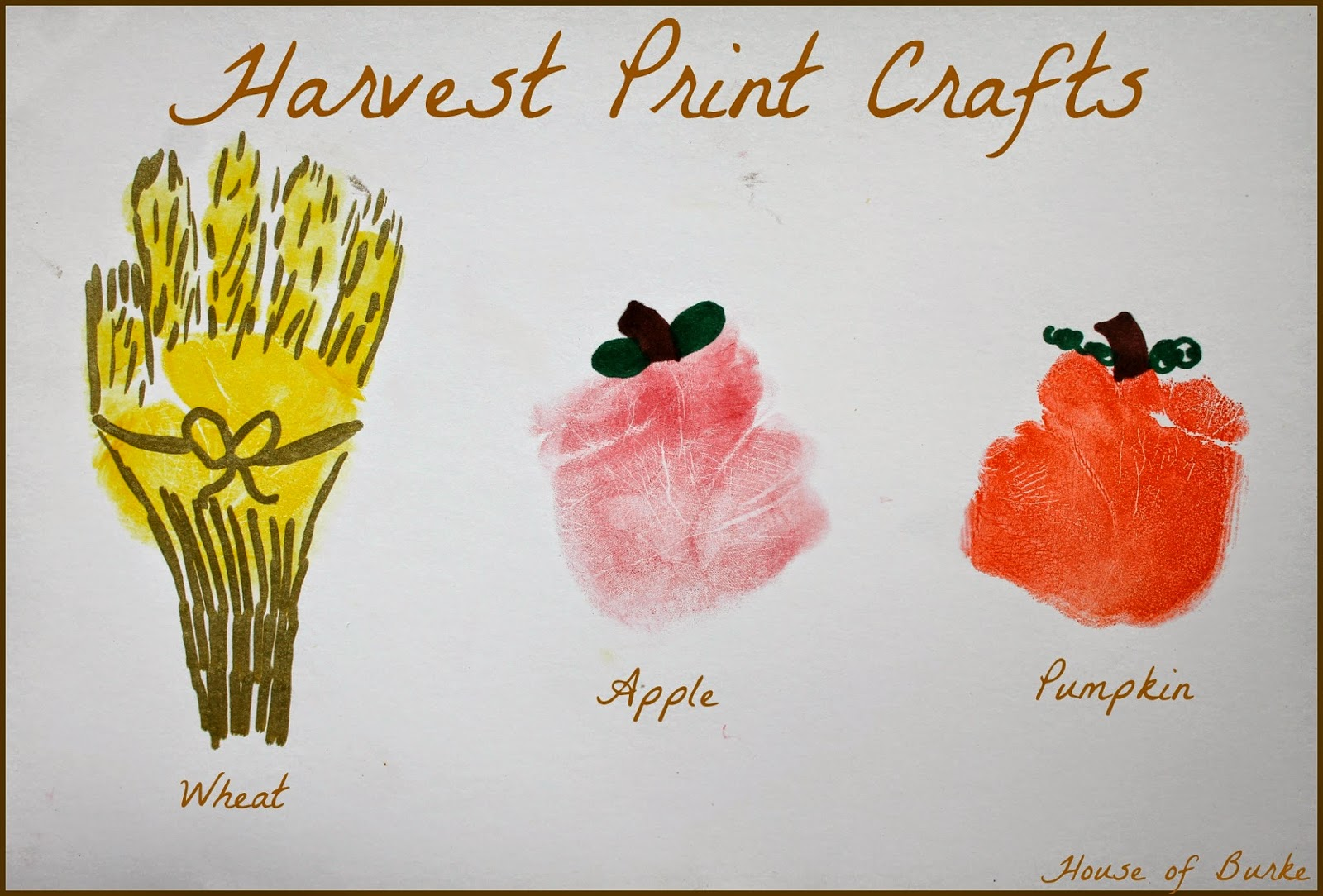 harvest arts and crafts ideas house of burke harvest print crafts 6696
