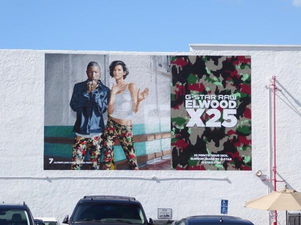 GStar Raw Elwood X25 jeans Spring 2017 wall mural ad
