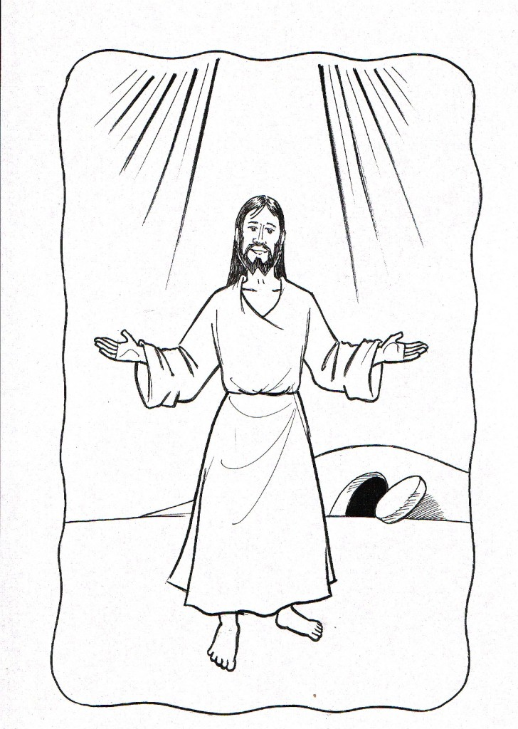 Dibujo de La Resurreccin de Jess para colorear ~ Dibujos