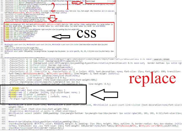 add css data-vocabulary.org Breadcrumb Error