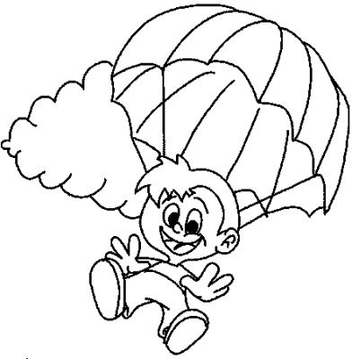 Parachute Coloring ~ Child Coloring