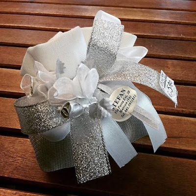 Bombonierestefan sacchettino per nozze d 39 argento 25 anni for Bomboniere per i 25 anni di matrimonio