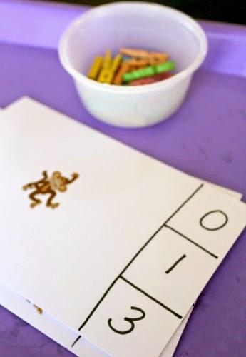 preschool clip cards for rainforest theme
