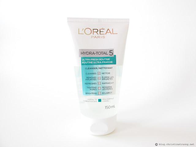 L'Oreal Paris Skin Care Expert Hydra Total-5 Ultra-Fresh Ritual Cleanser Review Influenster