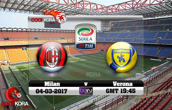 مشاهدة مباراة ميلان وكييفو فيرونا اليوم 4-3-2017 في الدوري الإيطالي