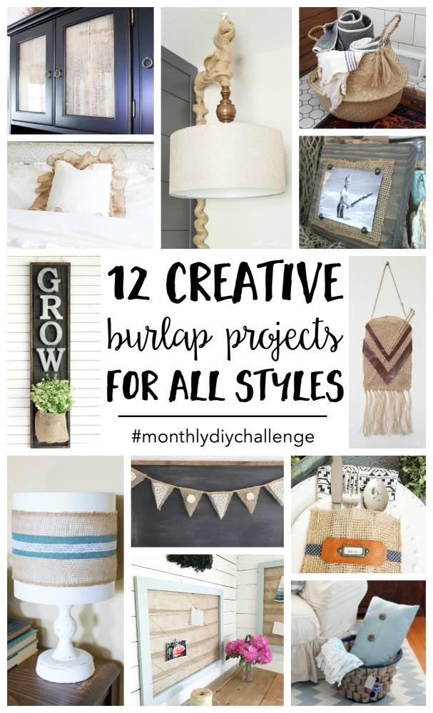 12 burlap ribbon craft project ideas