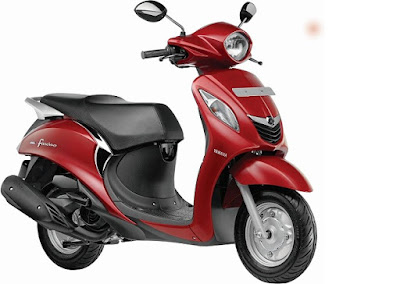 All New Yamaha Fascino Red colour hd Photos
