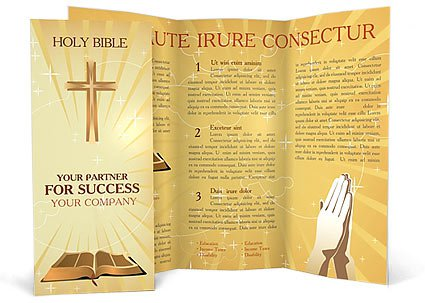 100 free premium brochure templates photoshop psd for Church brochure templates free