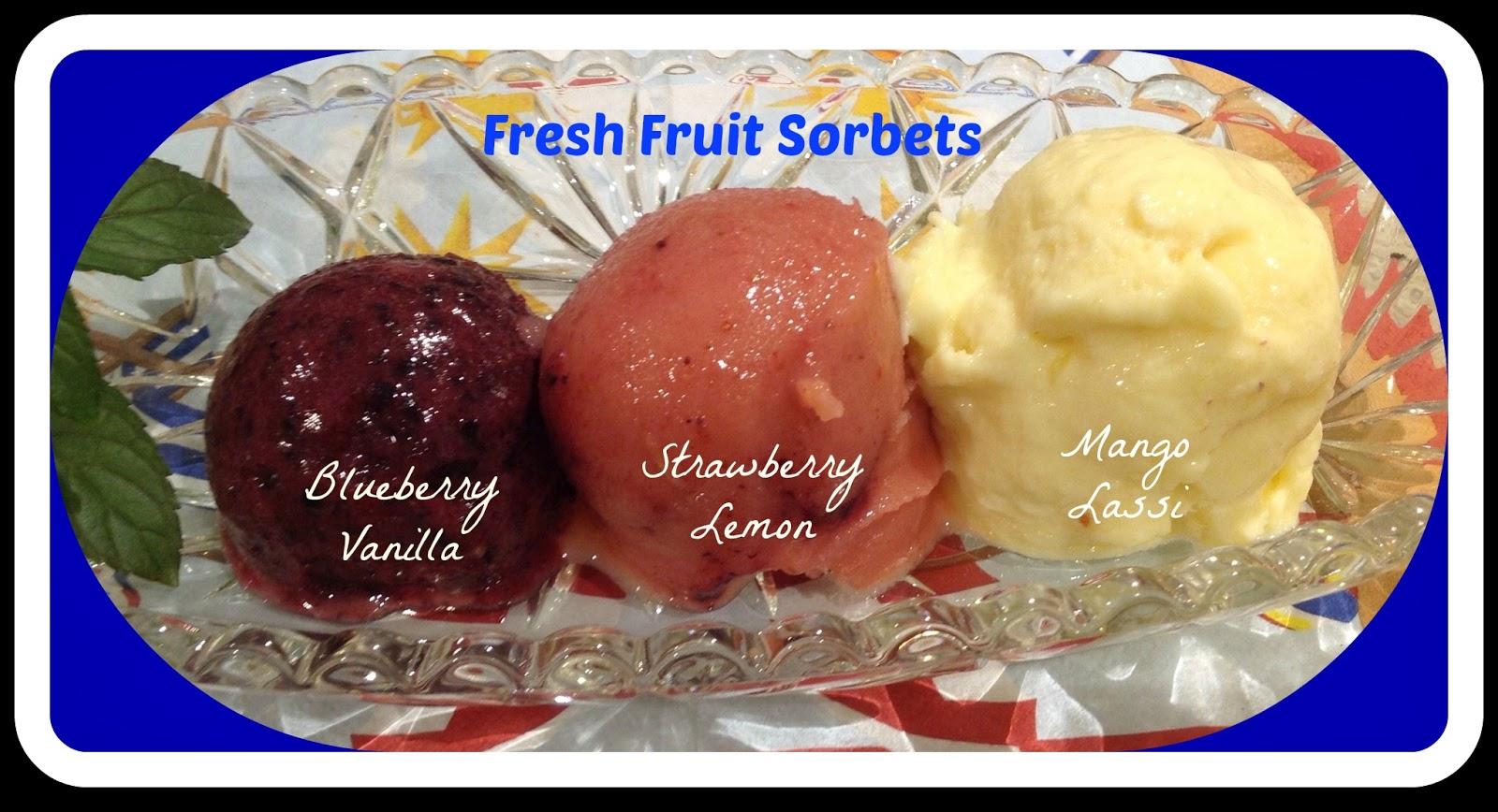 Three flavors of sorbet