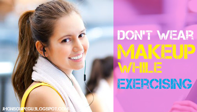 MAKEUP WHILE EXERCISING