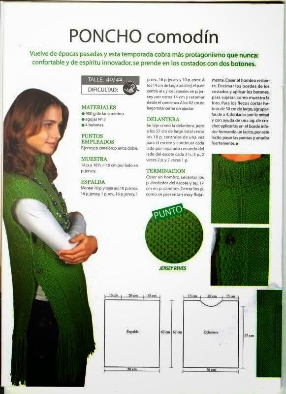 Pasatiempos entre hilos y puntadas: Capucha bufanda en dos agujas