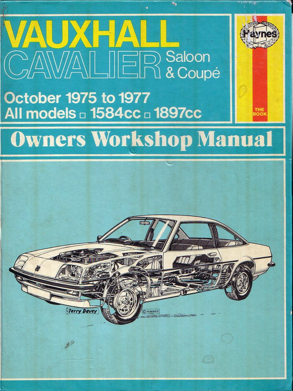For Sale - Haynes Manual for Vauxhall Cavalier Mk1 - £15