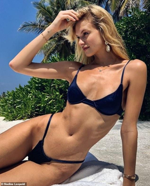 Nadine Leopold flaunts her slender figure in skimpy bikini