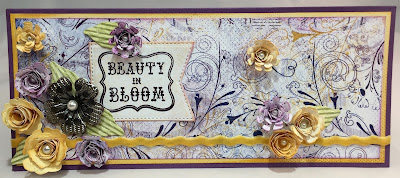Floral Card featuring Mulberry Paper Collection and PowderPuff Chalk Inks by Quick Quotes designed by Alicia O'Bryant