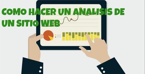 Como hacer un análisis de un sitio web