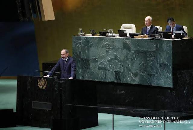 Pashinyan en la ONU: Bakú quiere limpiar Artsaj de armenios como hizo en Najichevan