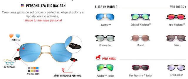 Información de Gafas Ray-Ban Personalizadas