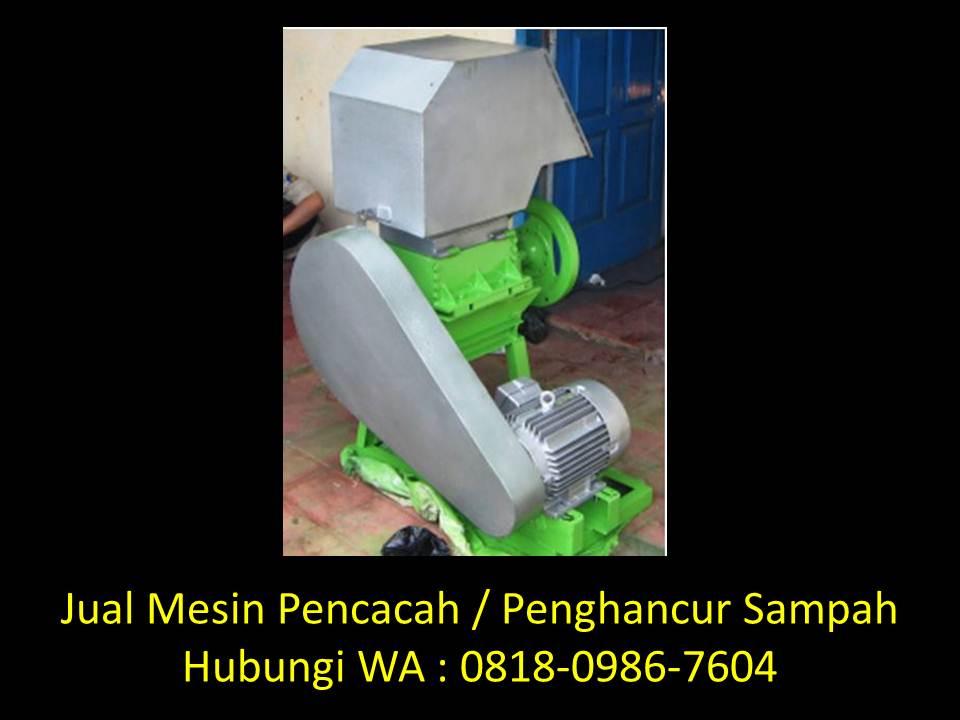 desain mesin pencacah sampah organik di bandung