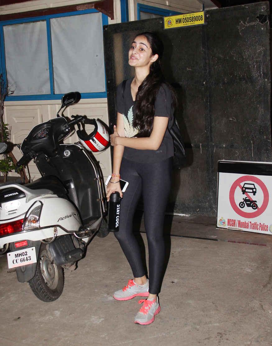 Chunky Pandey's Daughter Ananya Pandey In Bandra, Mumbai