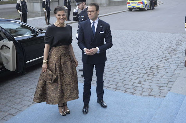 King Gustaf, Queen Silvia, Crown Princess Victoria, Prince Daniel, Prince Carl Philip, Princess Madeleine and Christopher O'Neill attended a concert held by Swedish Royal Opera on the occassion of 70th birthday of King Gustaf