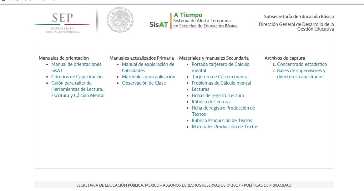 Telesecundaria Papantla: SISAT: MATERIALES DE APOYO (LIGA