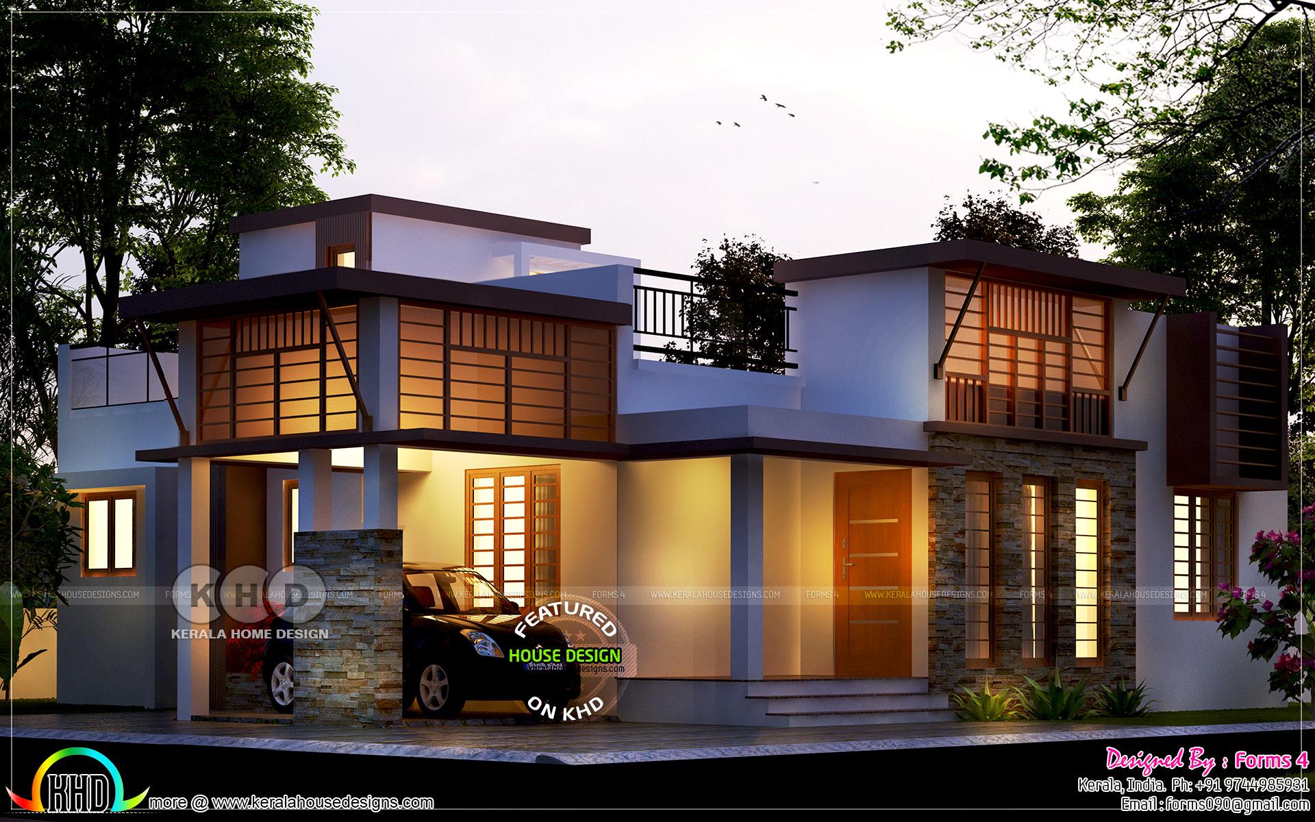 3 Bed Room Below 20 Lakhs Cost Single Storied Kerala Home