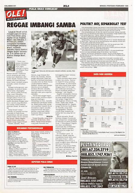 PIALA EMAS CONCACAF REGGAE IMBANGI BRASIL