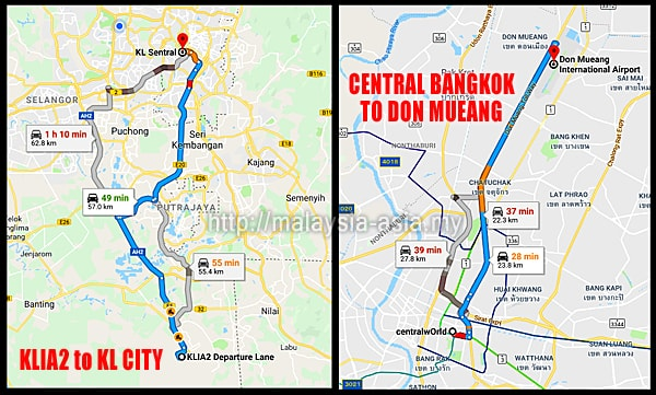 Don Mueang to Bangkok Central Distance