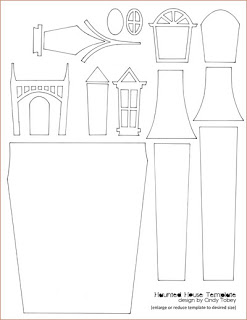 KUFER z artystycznym rękodziełem : Domki z papieru