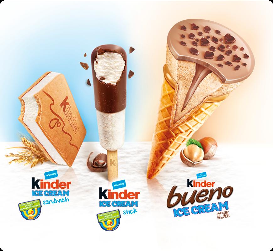Ferrero e il Gelato Kinder