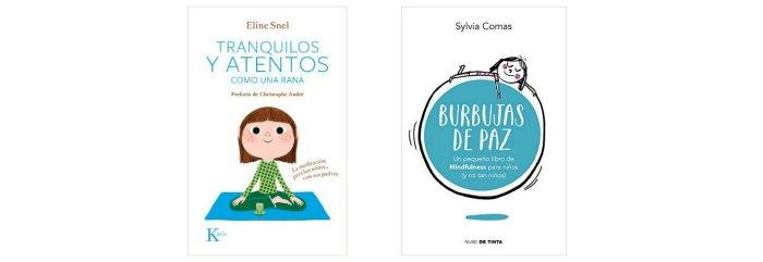libros mindfulness en familia rincón calma, mesa paz montessori para la regulación emocional