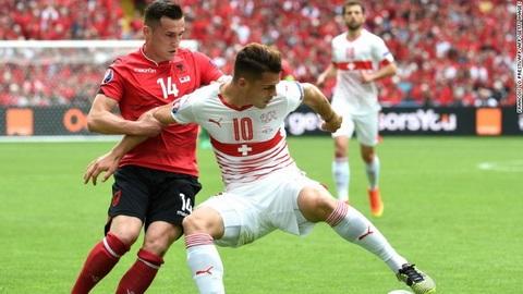 Tiền vệ Xhaka Ngôi sao số một của tuyển Thụy Sĩ