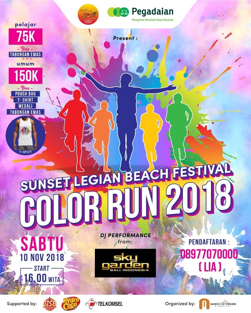 Sunset Legian Beach Festival - Color Run • 2018
