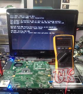 turtorial service laptop acer e1-431 tidak tampil di lcd