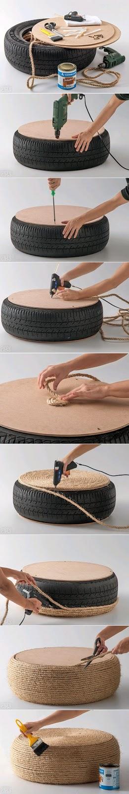 arte com pneus